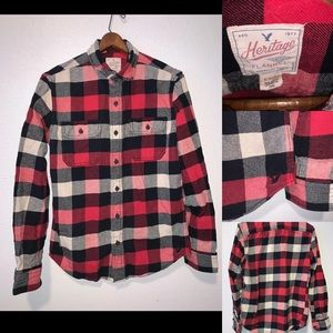 American Eagle flannel men's small